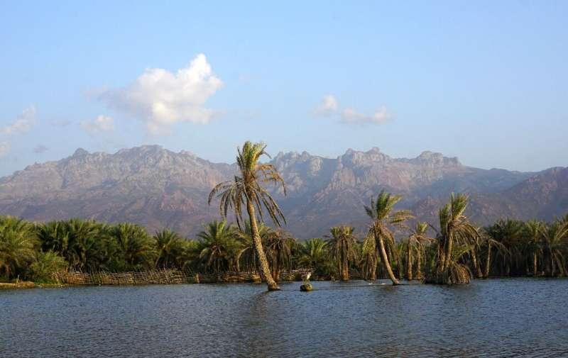 A lagoon outside Hadibo, the main city on the Yemeni island of Socotra