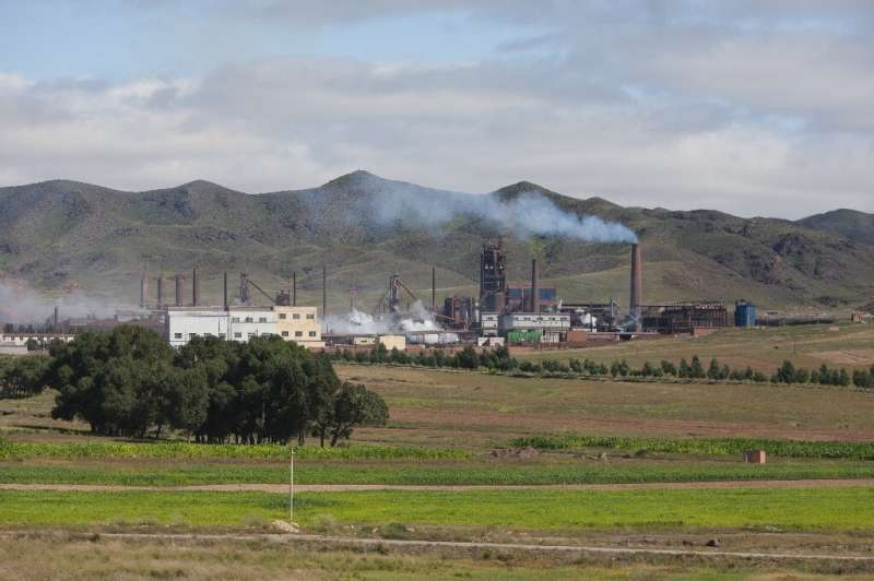 A photo taken in 2012 shows a rare earth refinery near Baotou, China, the country dominating the global mining and refining of t