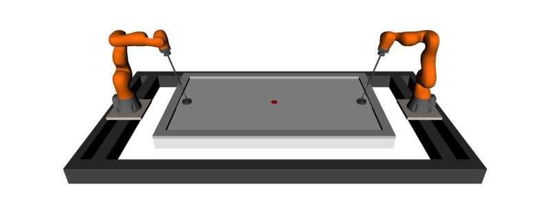 A policy to enable the use of general-purpose manipulators in high-speed robot air hockey