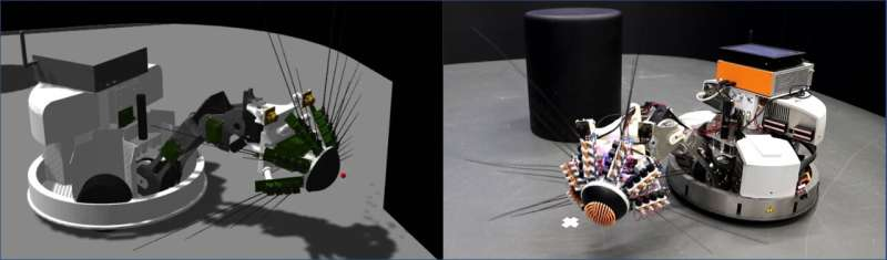 A robot on EBRAINS has learned to combine vision and touch