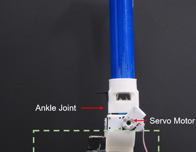 A tactile sensing foot to increase the stability of legged robots