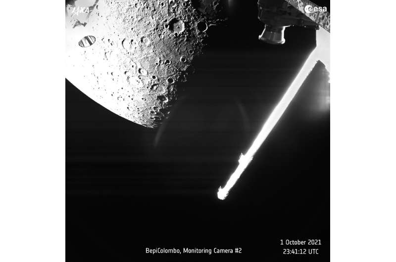 A view of Mercury captured on Friday by the joint European-Japanese BepiColombo spacecraft