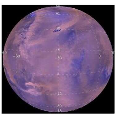 A combined map of almost 15,000 dust storms on Mars