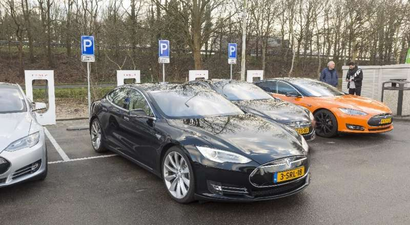 Almost a third of Europe's network of charging stations is in the Netherlands.