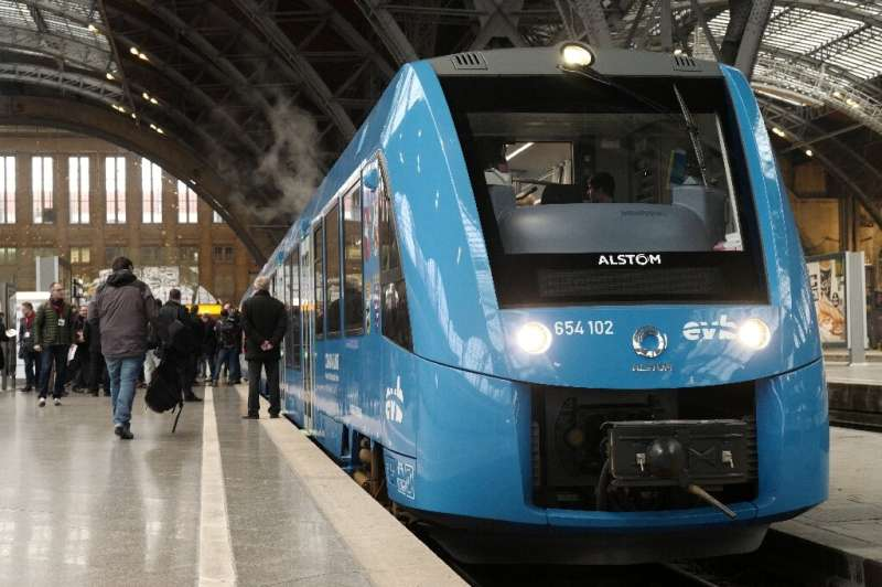 Alstom France head Jean-Baptiste Eymeoud said the trains are designed to run up to 600 kilometres (375 miles) on each hydrogen c