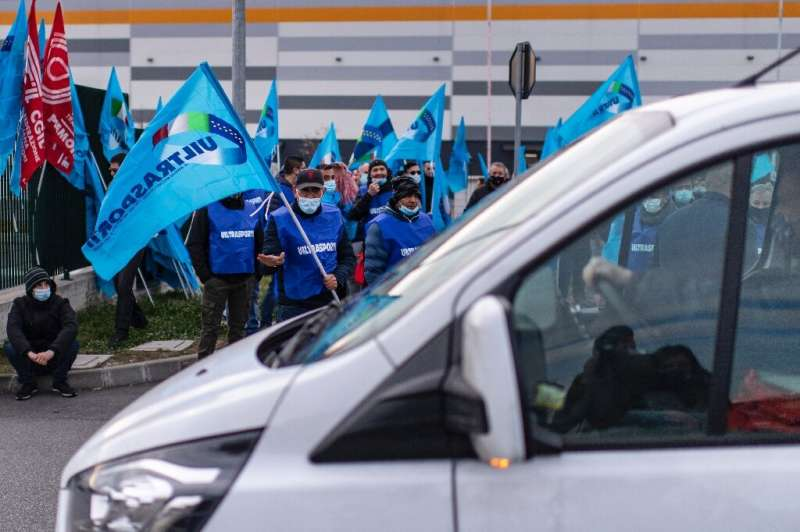 Amazon employs around 9,500 people in Italy, but unions say the protest also involves suppliers and delivery drivers