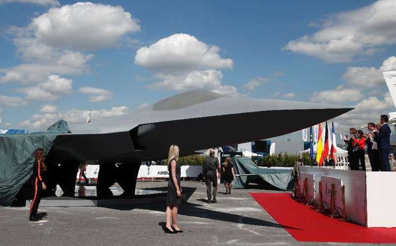 A model of the next-generation fighter jet sought by France, Germany and Spain.