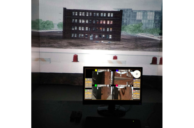 An AR interface to assist human agents during critical missions