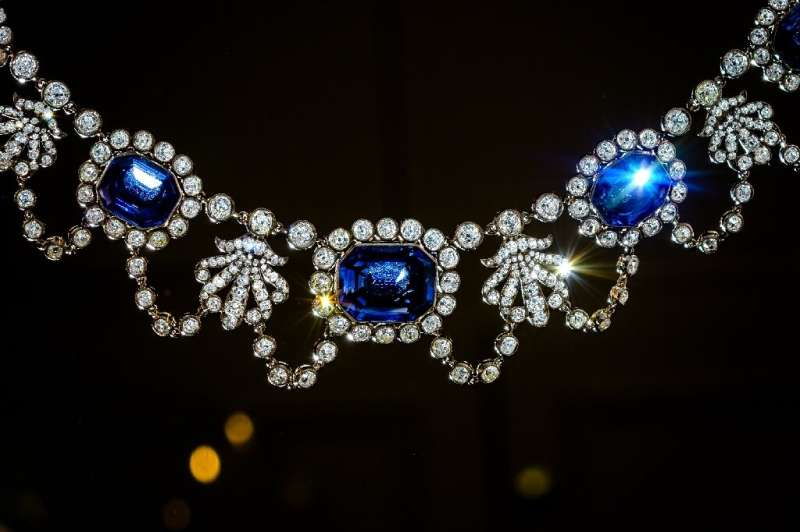An early 19th-century sapphire and diamond necklace, once owned by Napoleon's adopted daughter, was among the pieces auctioned
