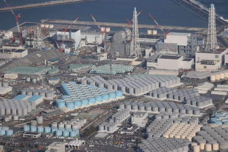 An extensive pumping and filtration system removes most radioactive elements from the water stored at the Fukushima plant