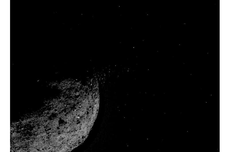 A NASA handout image of an asteroid
