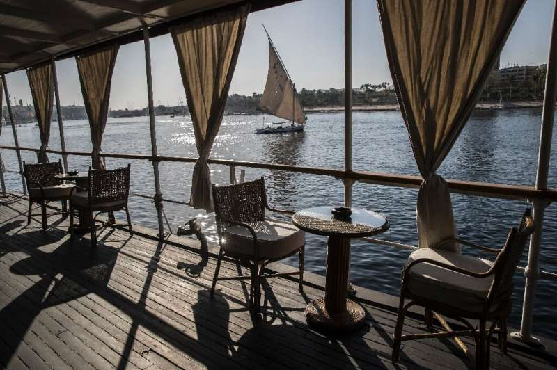 An Egyptian 'felucca' sailing boat on the Nile at Aswan; before the dam was built, Egypt was for millennia at the mercy of the s