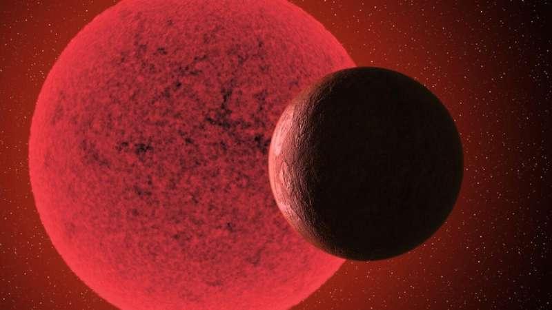 Una nueva supertierra descubrió que orbitaba una estrella enana roja