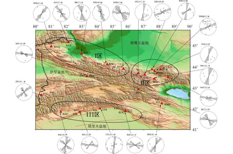Anisotropic zoning in the upper crust of the Tianshan Tectonic Belt