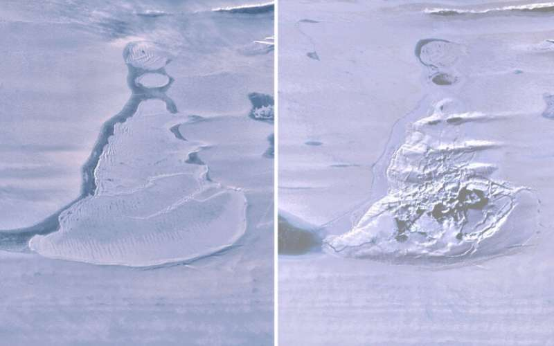 Antarctic lake suddenly disappears