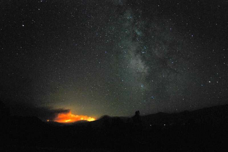 Antennas searching for extraterrestrials threatened by wildfire
