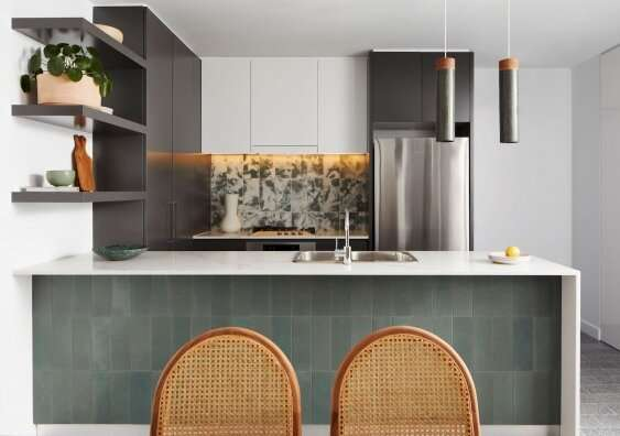 Apartment made from waste glass and textiles showcases 'green' ceramics