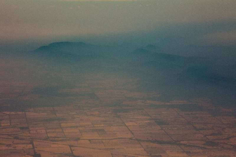A photo from the  Royal Australian Air Force shows smoke from bushfires January 7, 2020 over New South Wales in Australia