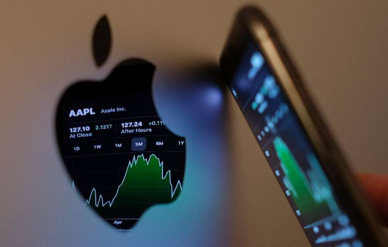 Apple said revenue from iPhone sales jumped some 50 percent and posted increases for its increasingly important services such as
