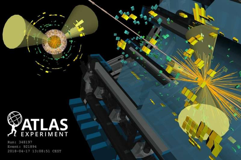 Applying quantum computing to a particle process