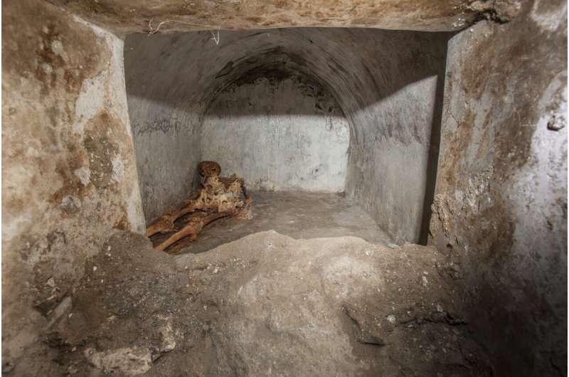 Archaeologists find skeleton, evidence of Greek in Pompeii