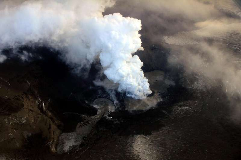 Ash and steam billow out from the crater of the Grimsvotn volcano in May 2011