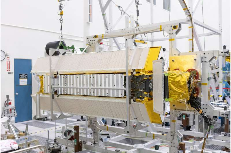 Assembly of satellite to track world's water shifts from U.S. to France