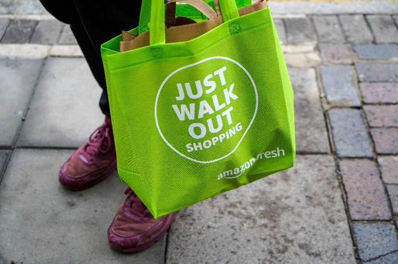 As the bag says, customers can just walk out, potentially saving them considerable time they would normally wait to check out