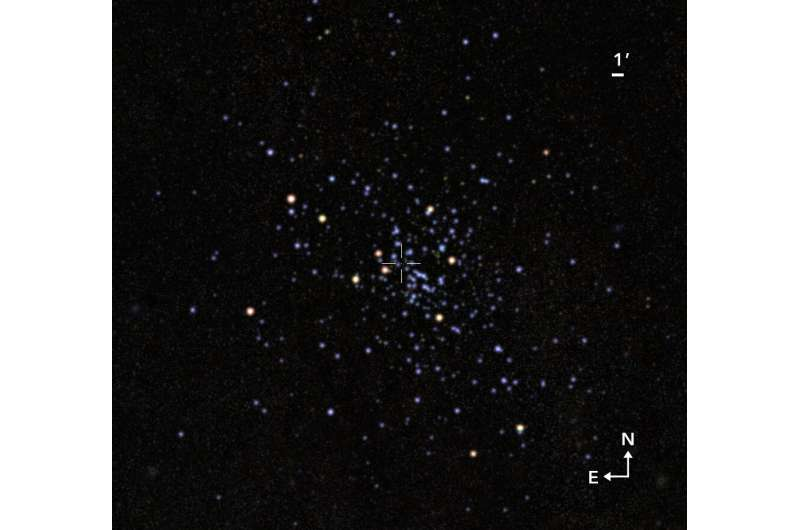 Astronomers discover a massive star cluster, of intermediate age, in the constellation Scutum