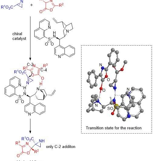 Asymmetric synthesis of aziridine with a new catalyst can help develop novel medicines