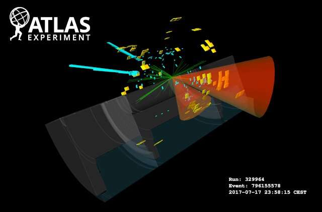ATLAS searches for pairs of Higgs bosons in a rare particle decay