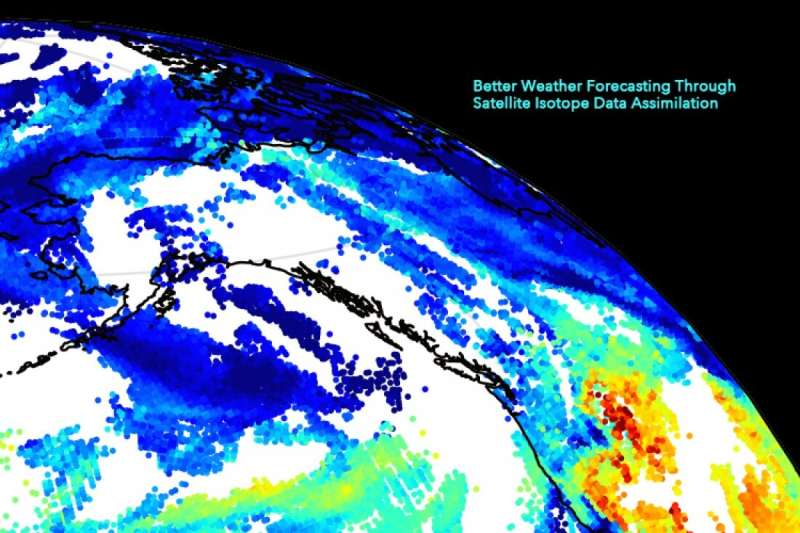 Better weather forecasting through satellite isotope data assimilation