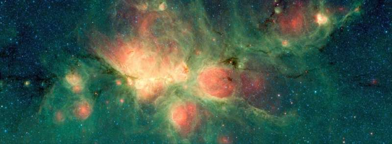 BISTRO explores complex magnetic field structure of Cat's Paw Nebula