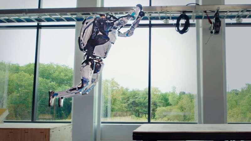 Boston Dynamics' latest robot video shows its 5-foot humanoid robot has moves like Simone Biles
