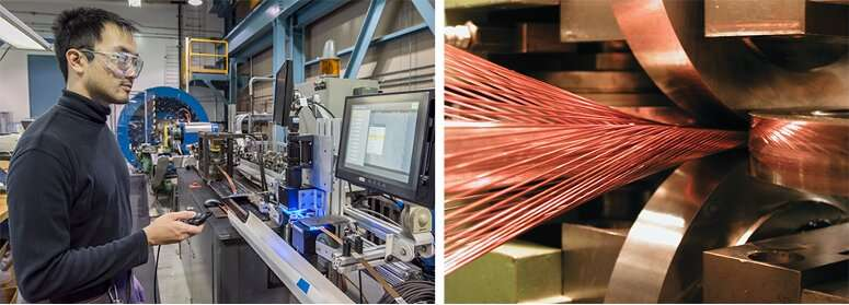 Cabling for Large Hadron Collider upgrade project reaches halfway mark