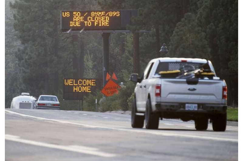 California wildfire near Lake Tahoe nearly half contained
