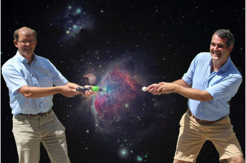 Capturing electrons in space