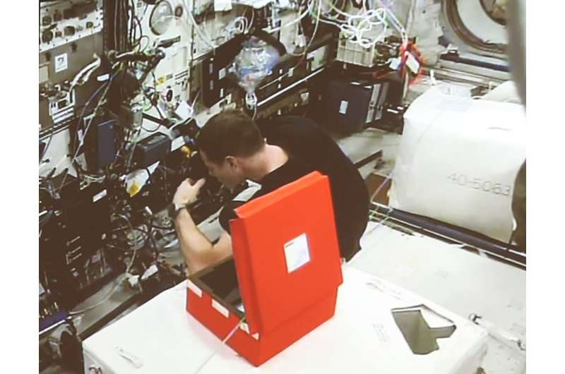CERN-tested optical fibres now on the International Space Station