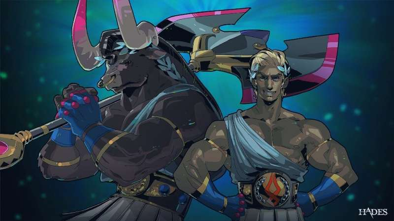 Characters are based on Greek mythology in the hit video game 'Hades,' whose graphics are akin to an animated cartoon