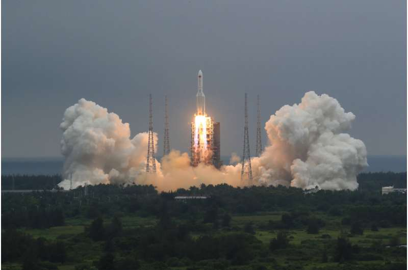 China defends handling of rocket that fell to Earth