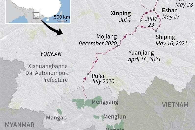 China's roaming elephants
