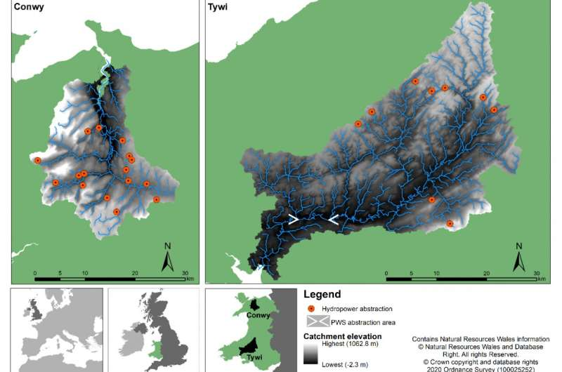 Climate change will impact future water availability for hydropower and public water supply in Wales