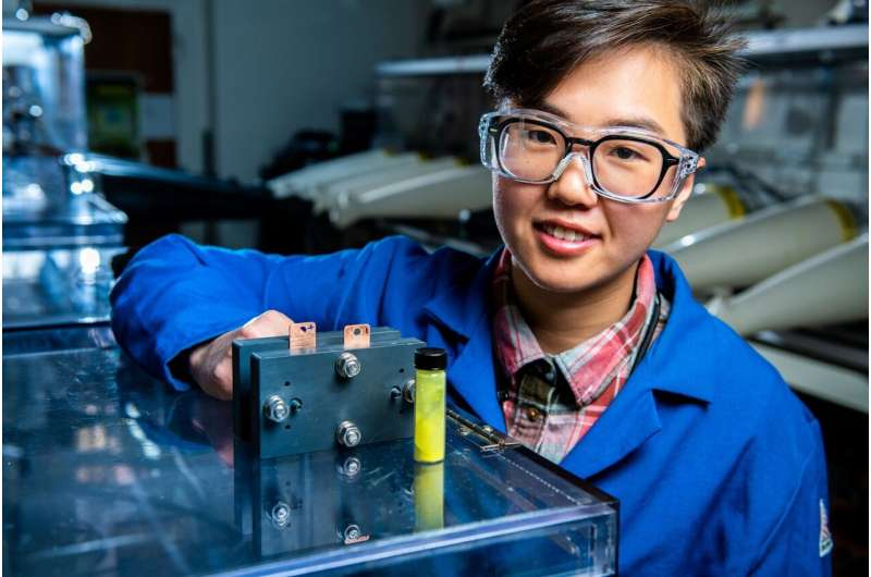 Compound commonly found in candles lights the way to grid-scale energy storage