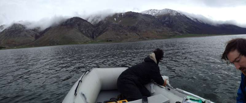 Concentration of microparticles in lakes reflect nearby human activity and land use