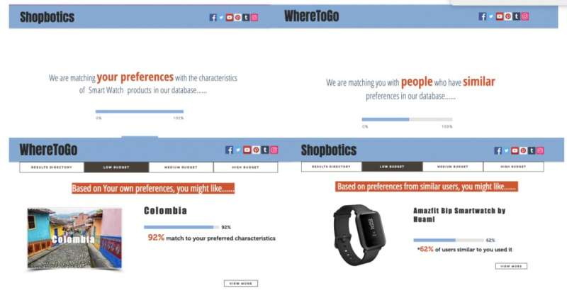 Consumers make decisions based on how and why products are recommended online