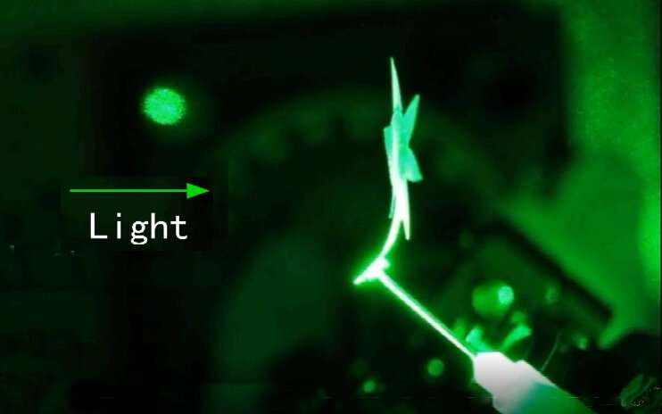 Controlled by light alone, new smart materials twist, bend and move