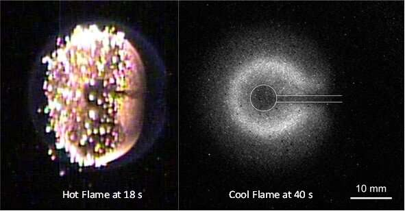 'Cool flames' ignited in space