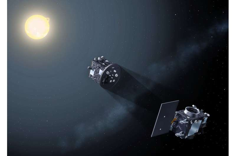 Corridor test of Proba-3's formation flying sensors