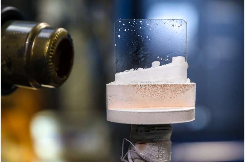 Creating exotic 'outer space' ice in the lab