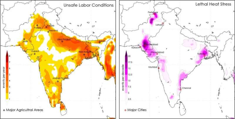 Deadly heat waves will be common in South Asia, even at 1.5 degrees of warming